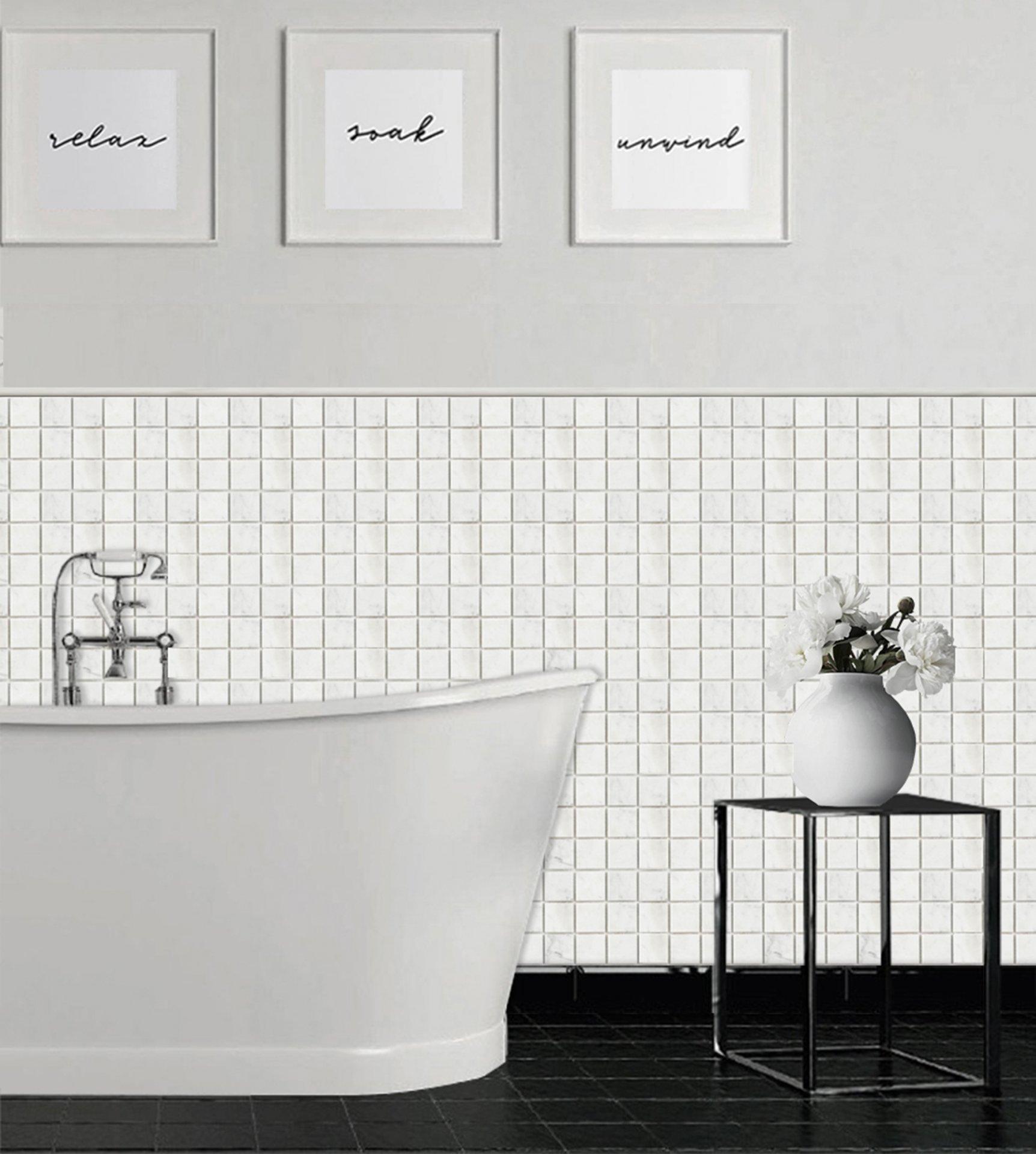 0.5X12 BIANCO CARRARA MARBLE POLISHED PENCI Bathroom