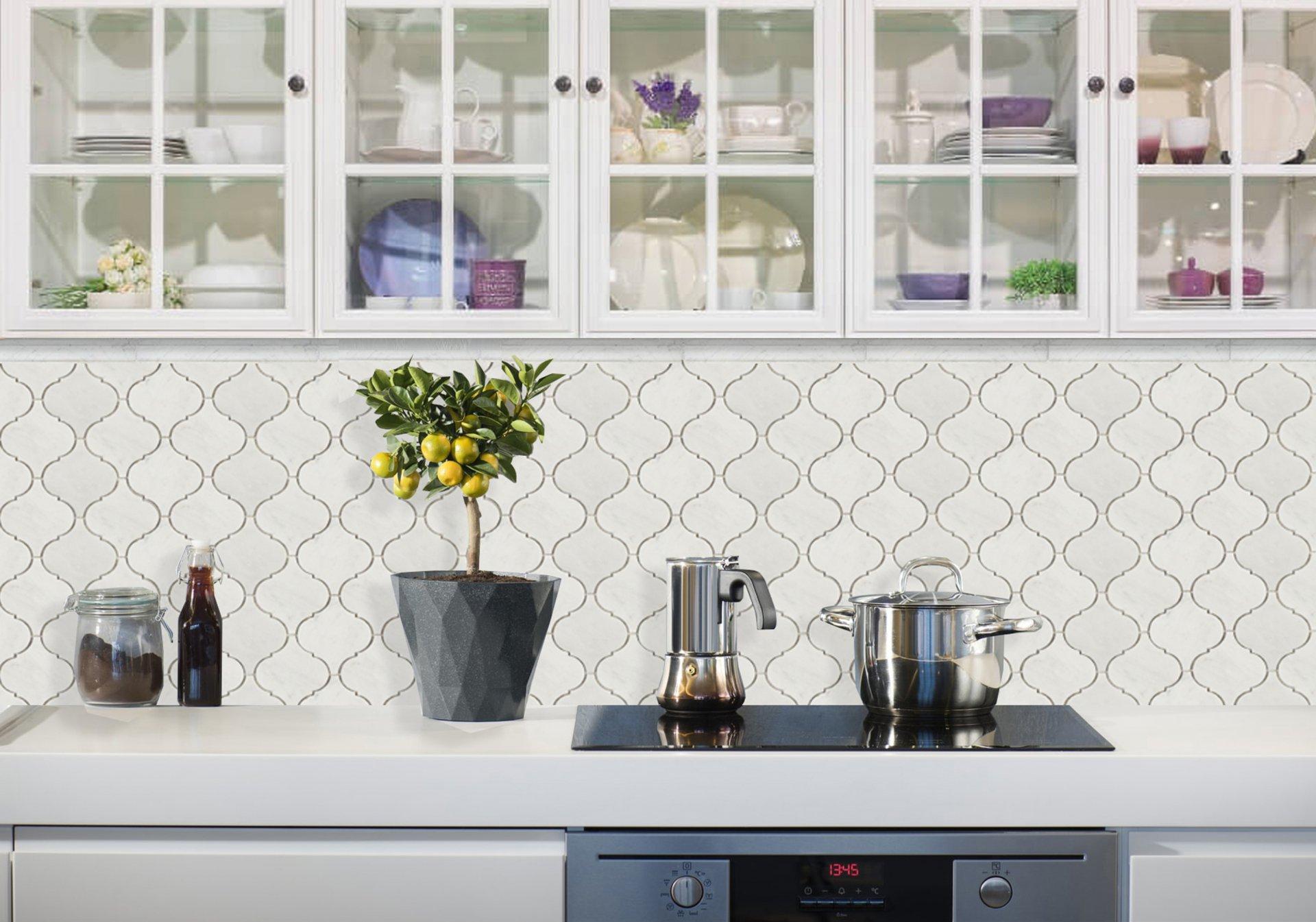 2X12 BIANCO CARRARA MARBLE POLISHED OGEE kitchen_update
