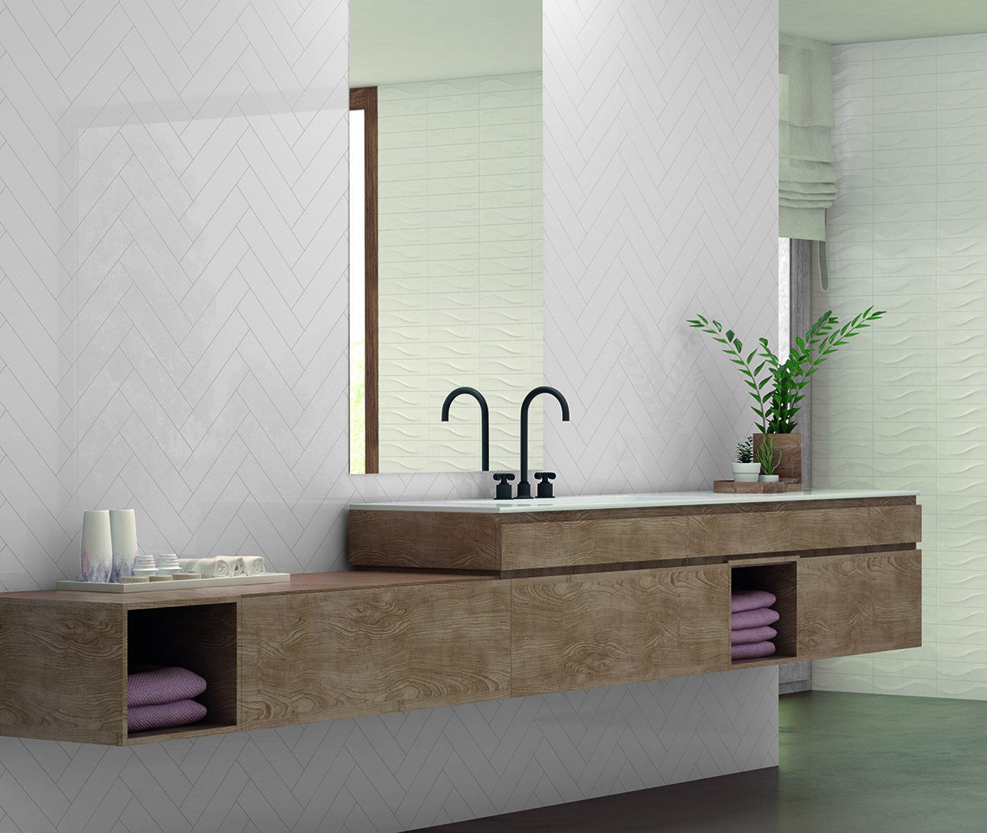 3x12 Bellini Metro Blanco Ceramic Glossy Wall Tile