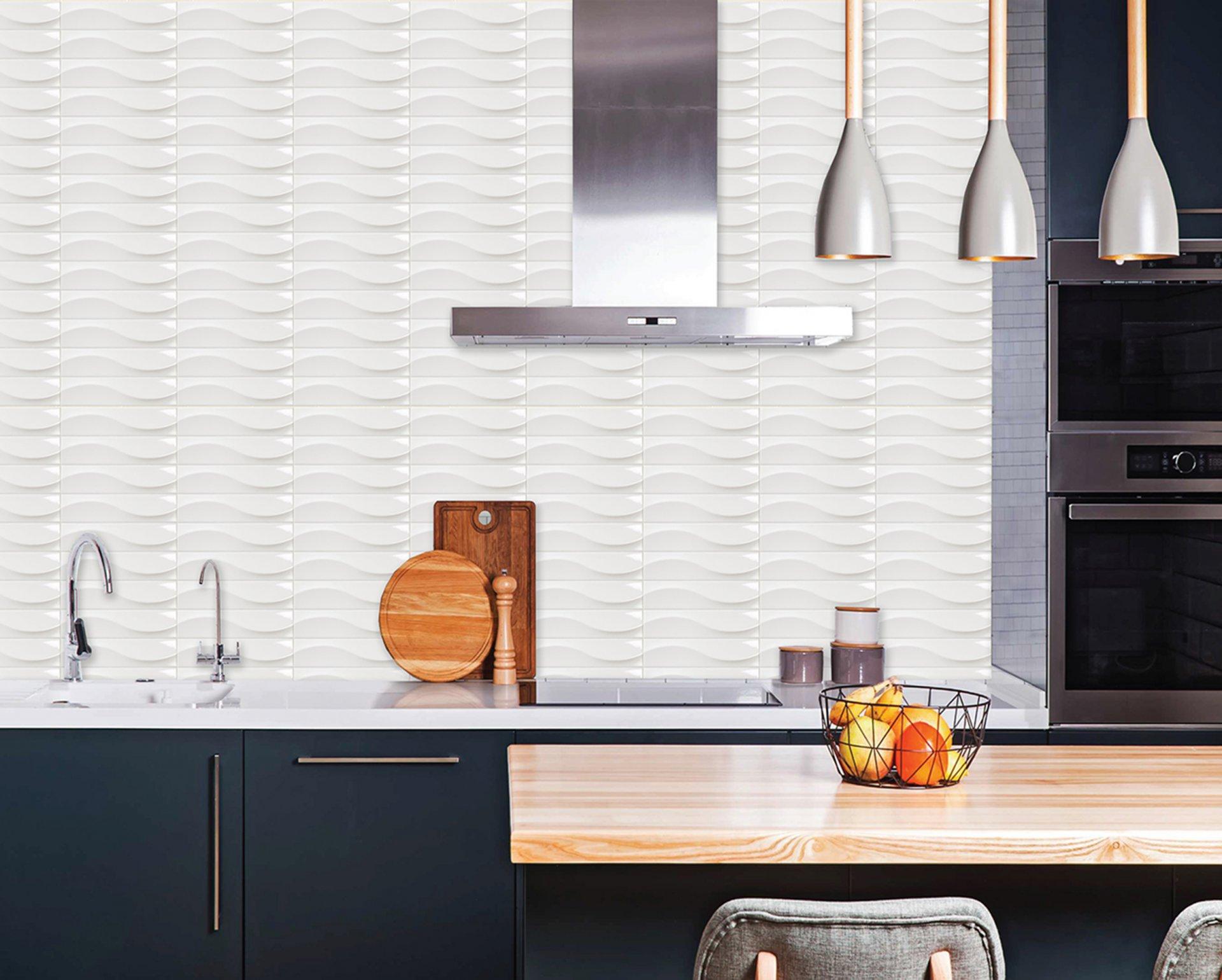3x12 Bellini Metro Decor Blanco Ceramic Glossy Wall