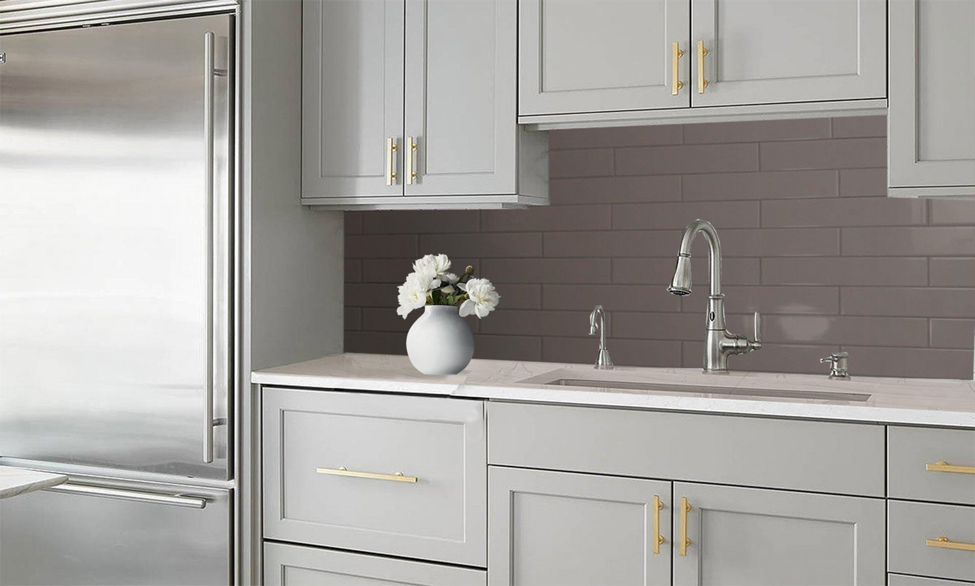 3x12 Bellini Metro Grey Ceramic Glossy Wall Tile