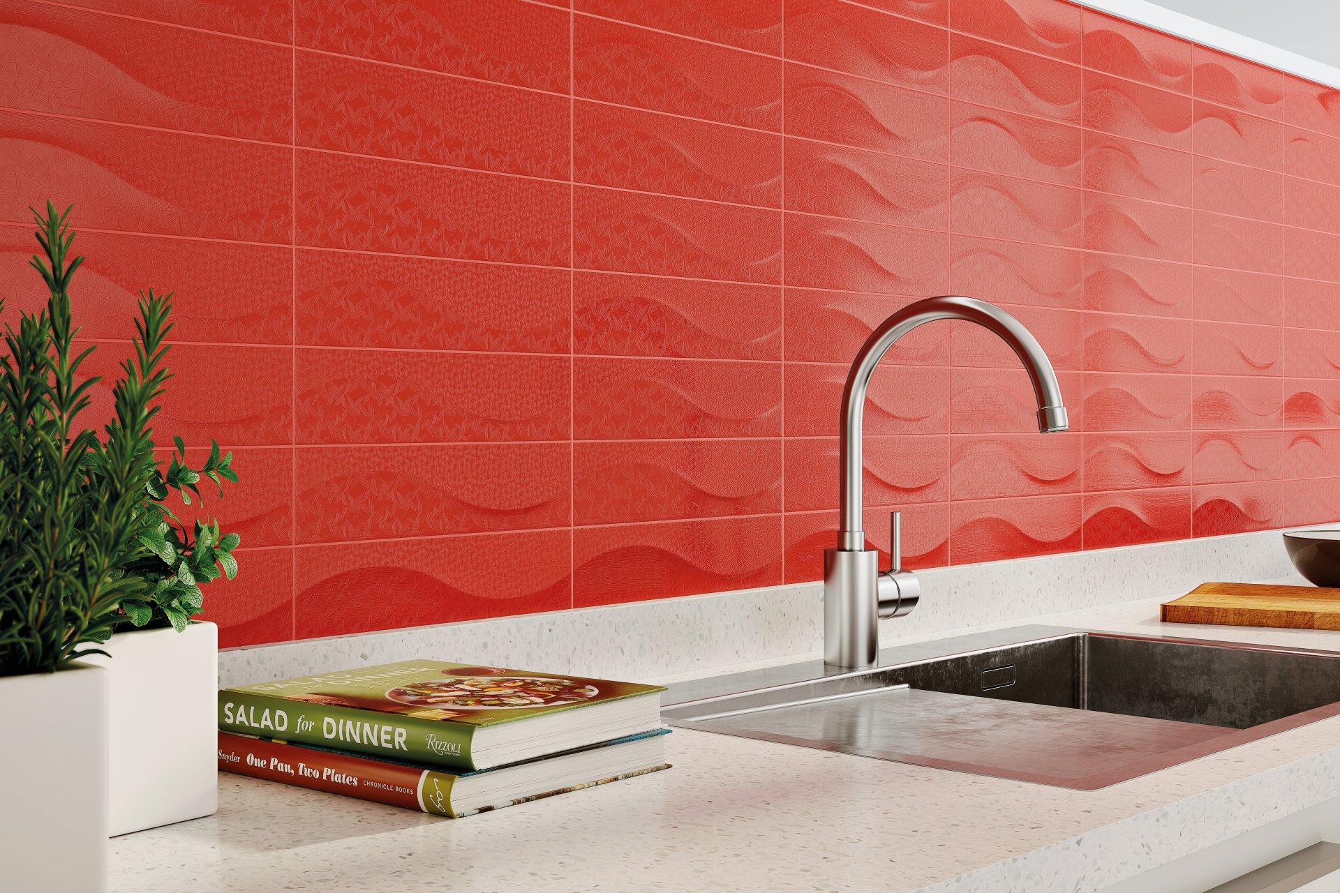 3x12 Bellini Metro Decor Rojo Ceramic Glossy Wall Tile