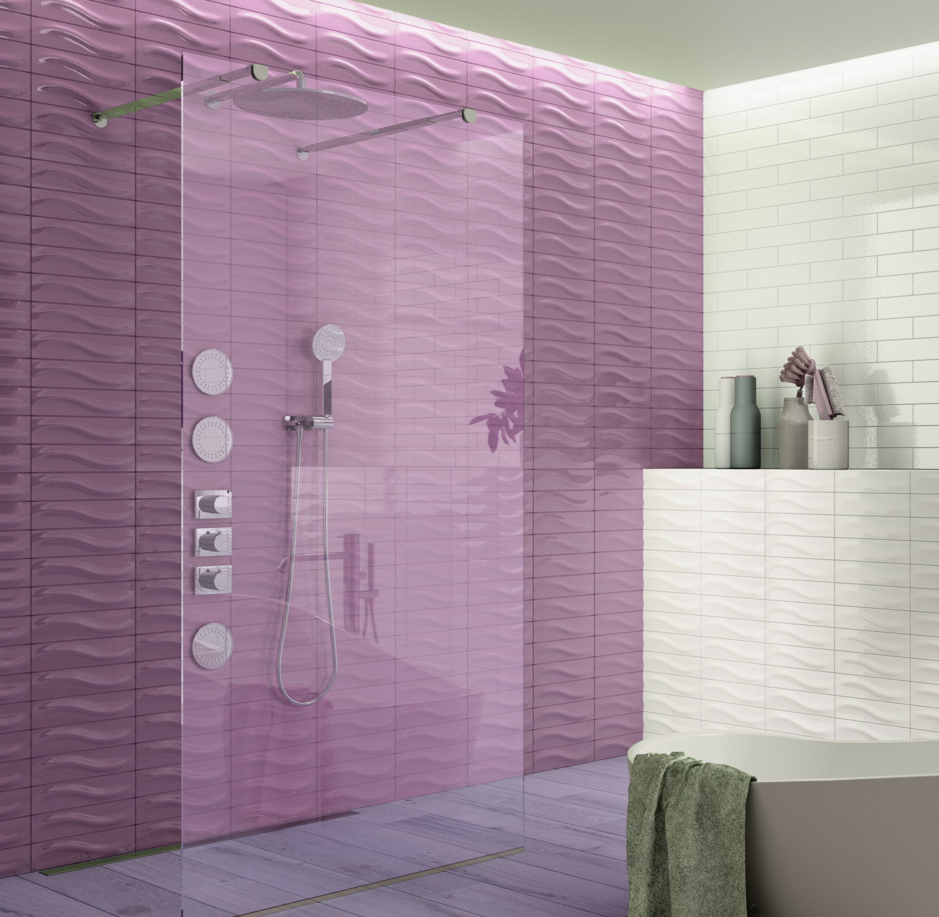 3x12 Bellini Metro Decor Rose Ceramic Glossy Wall Tile