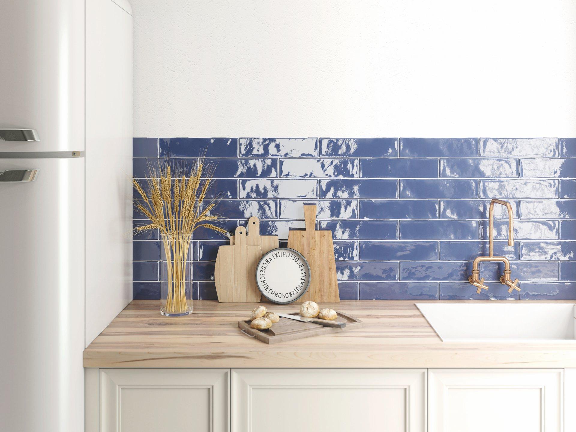3x12 Bellini Azul Ceramic Glossy Wall Tile