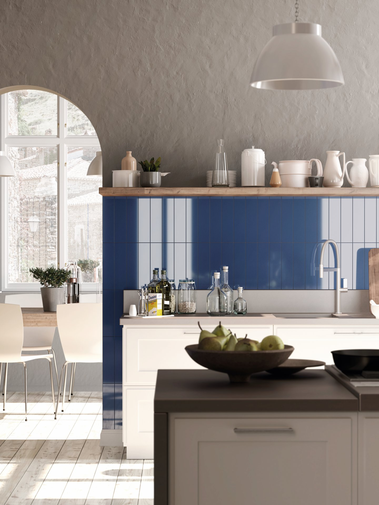 3x12 Bellini Metro Azul Ceramic Glossy Wall Tile