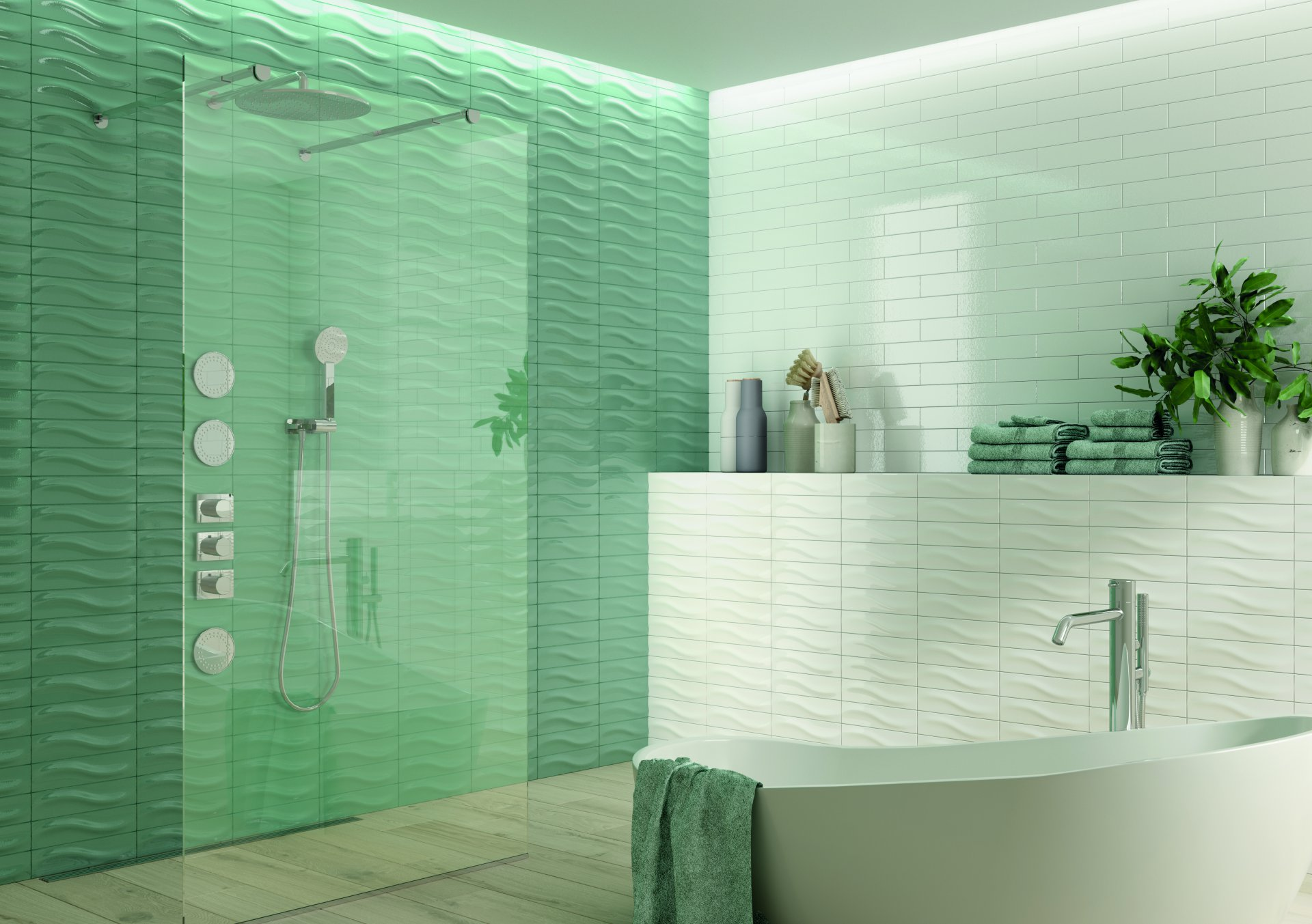 3x12 Bellini Metro Decor Turquesa Ceramic Glossy Wall Tile