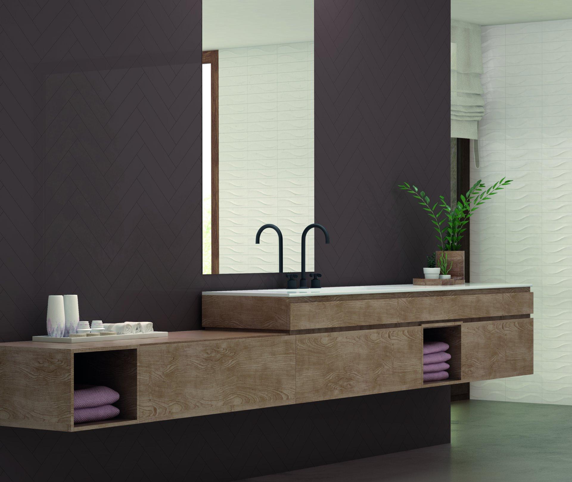 3x12 Bellini Metro Marron Ceramic Glossy Wall Tile