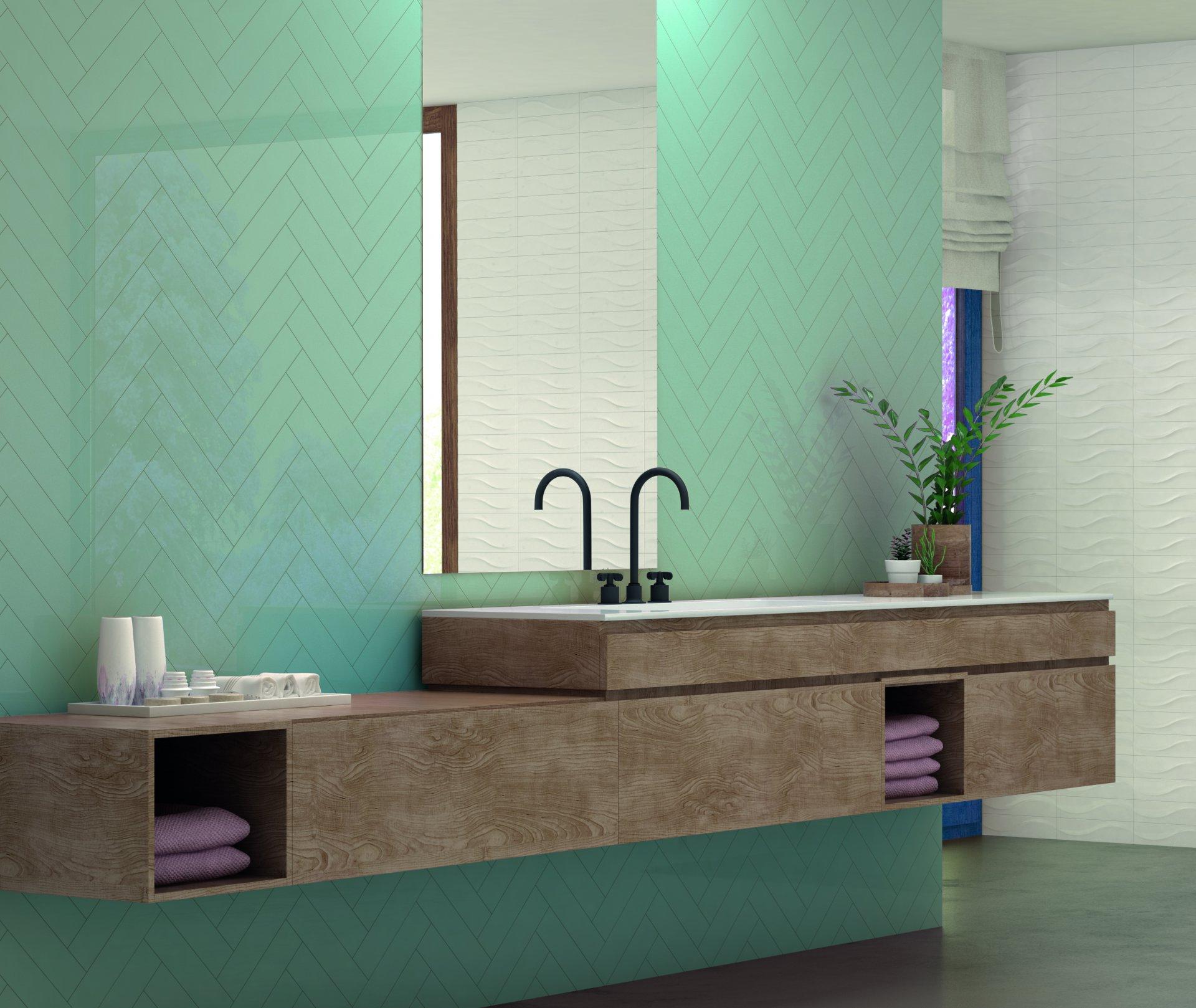 3x12 Bellini Metro Turquesa Ceramic Glossy Wall Tile