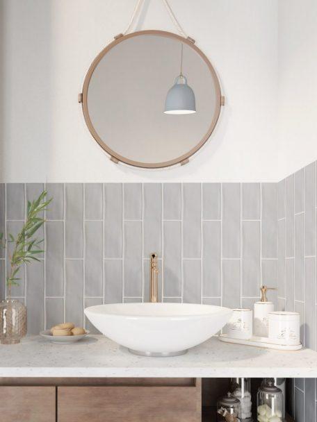 3x12 Chalk Gris Ceramic Matte Wall Tile