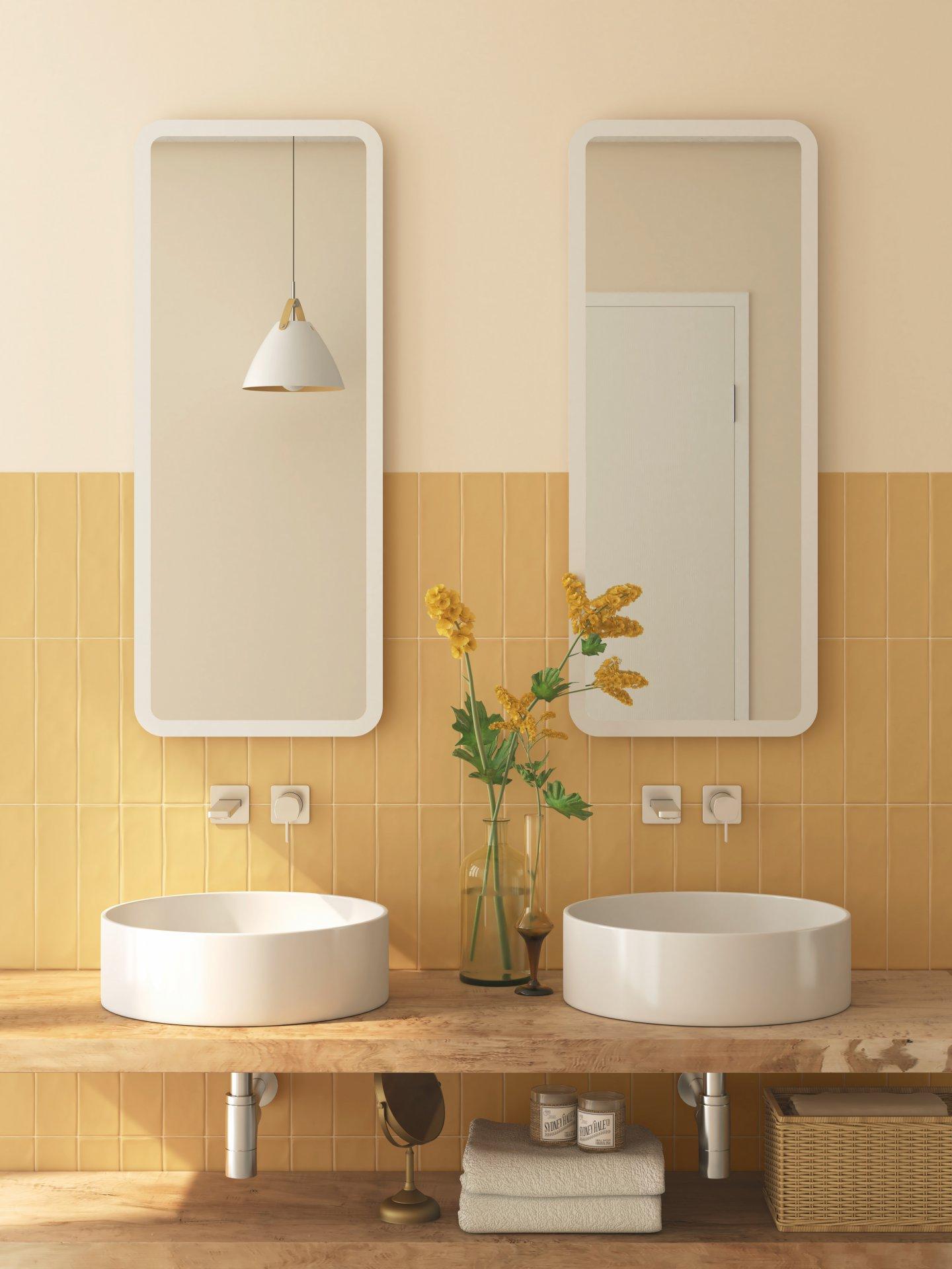 3x12 Chalk Ocre Ceramic Matte Wall Tile