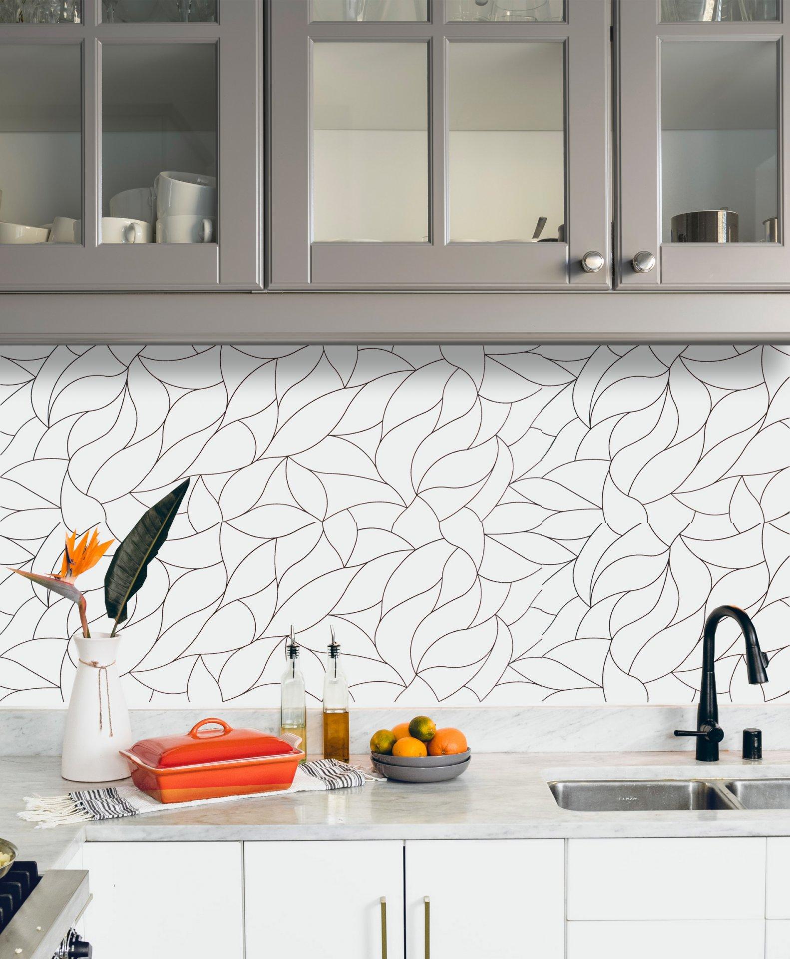 12x36 Brooklyn Decor White with Black Ceramic Matte Wall Tile