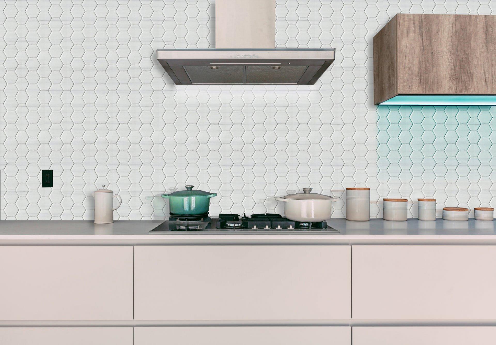 2x2 Hexagon Dolomite Select Marble Polished Mosaic