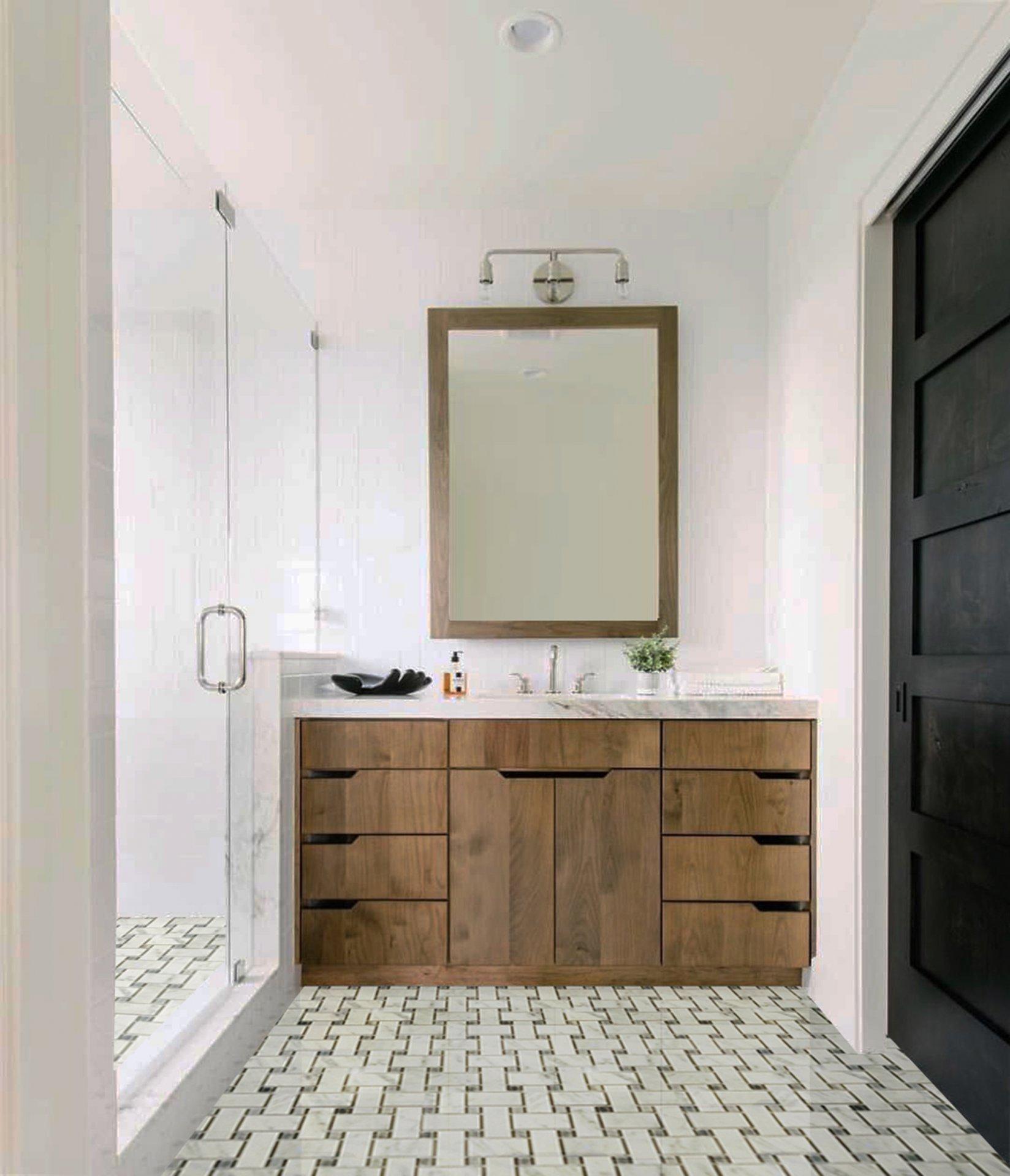 TWEED BIANCO CARRARA W GREY DOTS MARBLE PObathroom